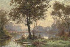 Au lac de la Forêt de Albert Gabriel Rigolot (1862-1932, France)