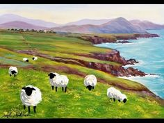Sheep Acrylic Painting Emerald Isles Series Tutorial LIVE Step by Step Lesson - YouTube