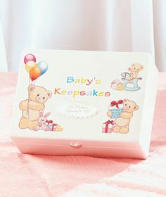 Personalized baby keepsakes keepsakes for baby pottery barn kids the personalized baby keepsake gifts have a teddy bear theme engrave each with a name date of birth or your own custom message lines 25 characters ma negle Choice Image