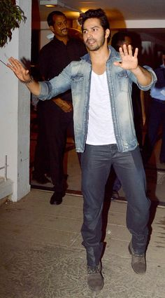 Varun Dhawan at Karan Johar's birthday bash. #Style #Bollywood #Fashion…