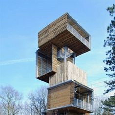 Dutch architects Ateliereen Architecten completed a 25 metre tall viewing tower at an outdoor sports park in Reusel, the Netherlands. Architecture Design, Contemporary Architecture, Amazing Architecture, Landscape Architecture, Classical Architecture, Lookout Tower, Casas Containers, Landscape Structure, Tower House
