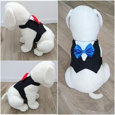 Dog Tuxedo, Dog Wedding Suit, Dog Formal Wear, Pet Vest for wedding/formal occasions with a Choice of Bow Tie Color Dog Wedding, Formal Wedding, Wedding Suits, Wedding Ideas, Dog Tuxedo, Yorkie Dogs, Puppies, Dog Clothes Patterns, Dog Pin