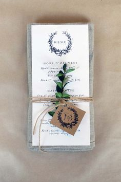 Winter Wedding Stationary Inspiration, garland, elegant, wedding menu, wedding ideas, wedding inspiration