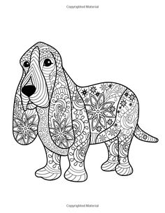 Dog Lover: Adult Coloring Book: Best Coloring Gifts for Mom, Dad, Friend, Women, Men and Adults Everywhere: Beautiful Dogs Stress Relieving Patterns Dog Coloring Page, Fairy Coloring, Cute Coloring Pages, Animal Coloring Pages, Adult Coloring Pages, Coloring Books, Coloring Sheets, Nature Drawing For Kids, Animal Books