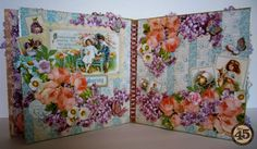 Graphic 45 Sweet Sentiments Easel Album by Maria Cole.