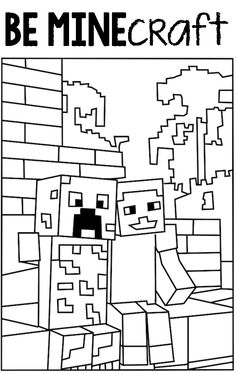 find this pin and more on valentines day printable minecraft creeper coloring pages - Arts And Crafts Coloring Pages