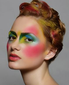 Colorful Makeup i like the cheek and brow placement