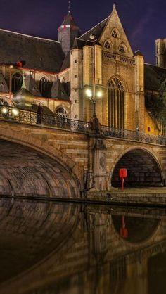 Saint Michael's Bridge,  Ghent, Belgium