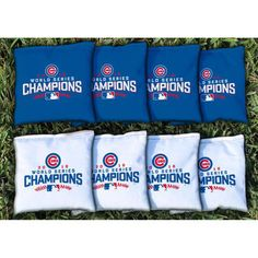 Chicago Cubs 2016 World Series Champions All-Weather Cornhole Bag Set