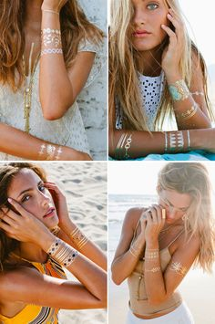In Love With Lulu DK Jewelry Tattoos.the BEST flash tats brand! You will notice a HUGE difference with the cheaper tats. You get what you pay for! Tattoo Flash, Flash Tats, Gold Tattoo, Metal Tattoo, Capsule Wardrobe, Jewelry Tattoo, Cool Necklaces, Metal Jewelry, Jewlery