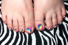 Tie Dye Toes by AmberDidIt from Nail Art Gallery