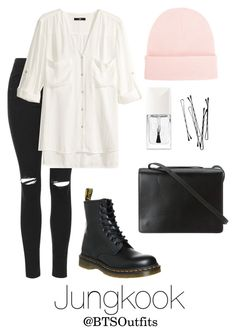 Spring outfit inspired by jungkook magnificent urban wear women life ideas Kpop Fashion Outfits, Edgy Outfits, Cute Casual Outfits, Korean Outfits, Cute Fashion, Look Fashion, Pretty Outfits, Swag Outfits, Korean Fashion