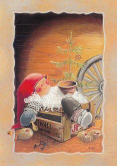 Swedish Christmas, Christmas And New Year, Vintage Christmas, Christmas Eve, Christmas Clipart, Christmas Crafts, Christmas Illustration, Illustration Art, Xmas Cards
