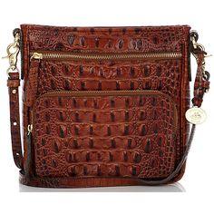 Brahmin Cleo Crossbody Bag (5 260 UAH) ❤ liked on Polyvore featuring bags, handbags, shoulder bags, pecan, black crossbody, travel purse crossbody, black tote bag, handbags crossbody and handbags shoulder bags