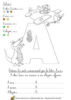 la lettre a Lettre C alphabet / abécédaire pédagogique (dessins commençant par  la lettre a