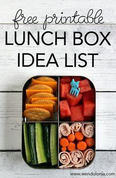 List of over 70 healthy lunch ideas for kids! Print out a list and keep it on the refrigerator for inspiration.
