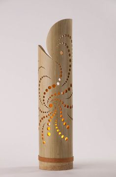 Bamboo lamp Robustus L - Lighting electricity Pvc Pipe Crafts, Wood Crafts, Bamboo Light, Bamboo Crafts, Bamboo Furniture, Luxury Furniture, Bamboo Design, Handmade Lamps, Wood Lamps