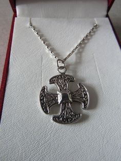 Sterling silver Canterbury cross and chain