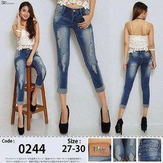 """""""""""Celana jeans ripped tekuk hipster DIOR Material: soft jeans Harga: 135 Warna: biru wass Order PIN 5A1F32FA & SMS/WA 087722-575-101  Reseller & Dropship Welcome!  Happy Shopping! :) #jamtangan #jamtanganwanita #jammurah #grosirjam #grosirbandung #jamcewek #jamtangancewek #jambandung #jamtanganterbaru #resellerjamtangan #grosirjamtangan #grosirjamtanganwanita #suplierjamtangan #jamtanganartis #olshop #jamfashion #jamoriginal #resellerwelcome #sepatu #celanajeans #sepatubandung Ripped Jeans, Skinny Jeans, Dior, Hipster, Instagram Posts, Pants, Fashion, Tattered Jeans, Trouser Pants"""