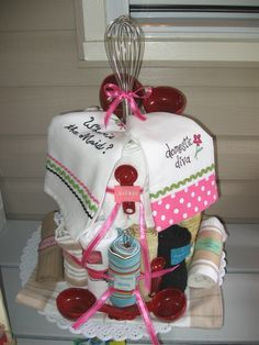 1000 Images About Dish Towel Crafts On Pinterest Towel Cakes Towel Apron