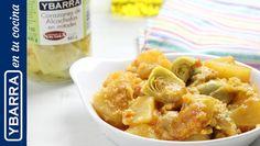 Un sencillo guiso de patatas y #alcachofas. Una #receta rápida y fácil para disfrutar durante todo el año.