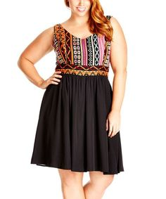 Black Indie Girl Dress - Plus
