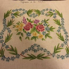 Needlepoint Canvas-Floral-made In France-design Approx 13x15.5 Inches