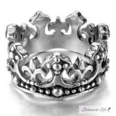 Ring  Krone  316L  Edelstahl  im Etui
