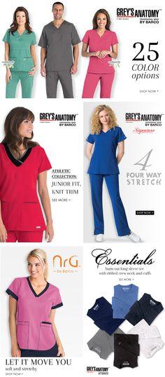 Grey's Anatomy scrubs by Barco.