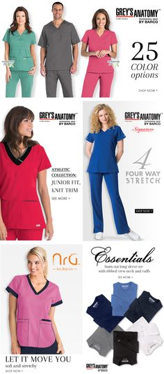 Grey's Anatomy scrubs by Barco.