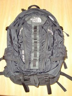 ab4f9b04c1 Men s NORTHFACE Black Big Shot Heavy Duty Backpack Daypack No Reserve NICE!   NorthFace