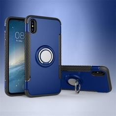 c7ff3b285b TPU Phone Case for iPhoneX Case with Ring Holder Armor Phone Case for Apple  iPhoneX