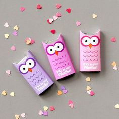Last minute printable to craft up adorable owl Valentines.