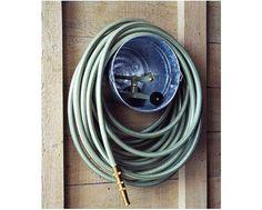 Galvanized Bucket hose hanger.