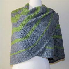Sonar  SemiCircular Knitted Shawl Pattern .pdf by WildPrairieKnits, $6.00