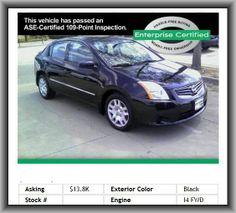 2012 Nissan Sentra 2.0 Sedan  Power Brakes, Power Steering, Automatic Transmission, Front Wheel Drive, Air Conditioning, Tilt Steering Wheel, Power Windows, Anti-Lock Brakes,