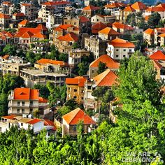 Red roof tops. ‎#Hasroun ‏#حصرونlebanon#villages