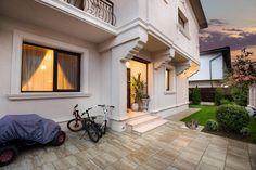 Proiect Casa Rezidentiala Otopeni – Profile Decorative Home Gate Design, Gate House, Architectural Elements, Garage Doors, Exterior, Windows, Patio, Outdoor Decor, Modern