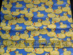 Cute Yellow Ducks on Blue Fabric Traditions Fat Quarter FQ Patchwork Crafts Fat Quarters, Blue Fabric, Ducks, Fabrics, Traditional, Manga, Yellow, Cute, Anime
