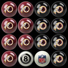 Other Billiards Balls 36102: Washington Redskins Pool Ball Billiard Set Shipped Free -> BUY IT NOW ONLY: $195 on eBay!