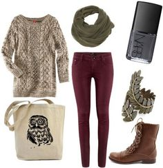 Walk around the park outfit or a trip to the library :)
