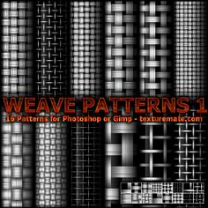 Weave 1 Pattern Set for Photoshop or Gimp   texturemate.com - Free Textures, Brushes, Patterns, and Design Articles!