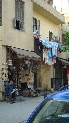 Small market area near the Coptic museum, Cairo, Egypt. By Maryanne Gabbani.