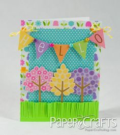 Hello Banner Card by Kim Kesti by Paper Crafts Photos, via Flickr