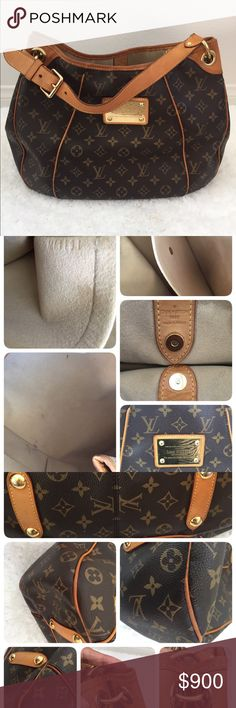100% Auth Louis Vuitton Galliera PM Monogram Only $720 on ♏️.  Date code MI1191 made in France This is a pre owned good condition well loved Galliera PM with signs of wear.  Inside has some pen marks. No foul or cigarette smell.  Vachetta has patina already, some areas darker than other. Water stain on handle and the trim. Stain on vachetta next to the hardware. Rubbing on the corners. There a small black dot on the upper trim as shown in picture.  Overall the bag is in good condition.   A…