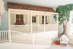 This sort of goes with that closet playhouse idea I pinned... this would work if you don't have an extra closet!