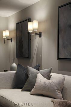 Rachel Winham Interior Design. Cool Lighting. Walls