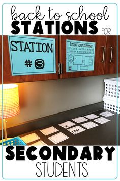 Back to School Station/Task Card Activity This engaging, get-to-know-you first day of school activity is perfect for secondary students. Make Back-to-School season fun and help your High School First Day, Back To School Night, Middle School Classroom, Beginning Of The School Year, Middle School Science, Math Classroom, School Teacher, Classroom Ideas, Classroom Organization