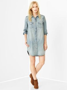 Ten Transitional Summer-To-Fall Pieces: Chambray Shirtdress | Ramshackle Glam