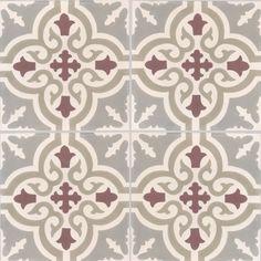 Carreaux de ciment - décors 4 carreaux - Carreau TROUVILLE 07.27.35.36 - Couleurs & Matières